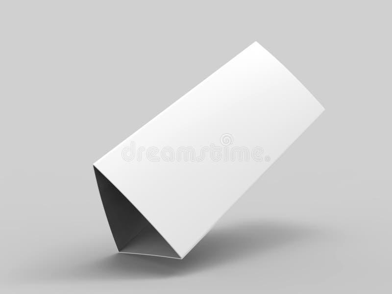 Calendario della tenda della tabella in bianco per progettazione del modello 3d rendono l'illustrazione illustrazione di stock