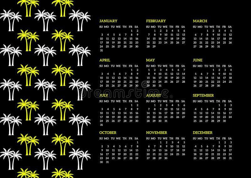 Calendario di anni '80 illustrazione vettoriale