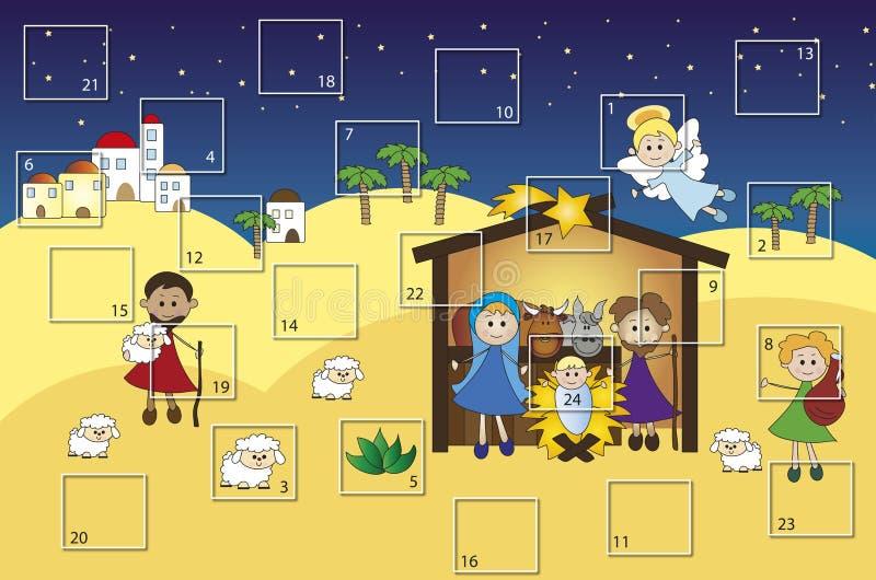 Calendario di arrivo royalty illustrazione gratis