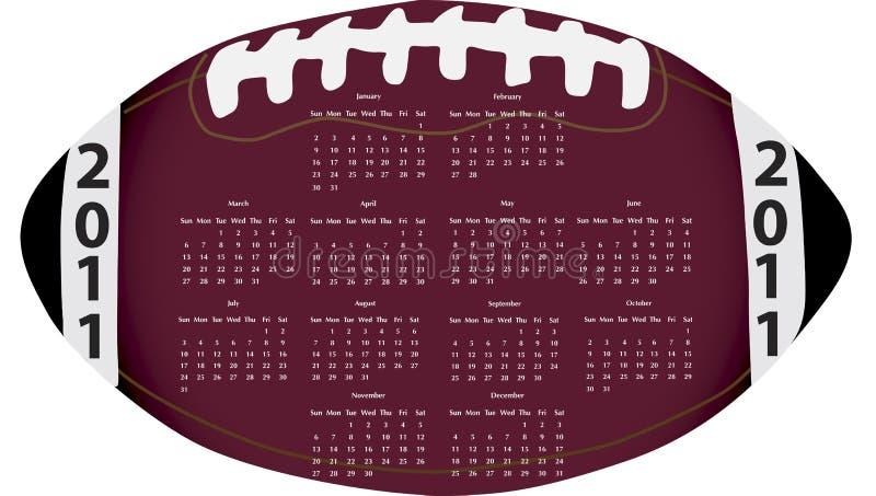 Calendario di gioco del calcio fotografia stock