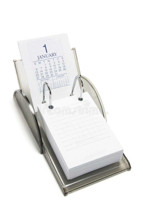 Calendario di scrittorio immagini stock