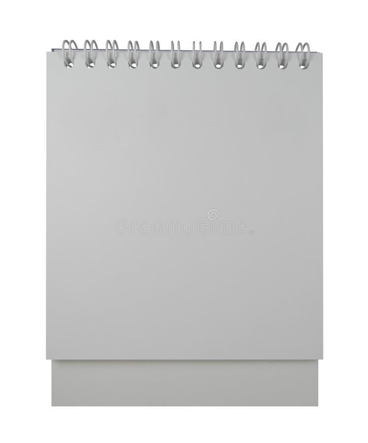 Calendario di spirale dello scrittorio fotografie stock libere da diritti
