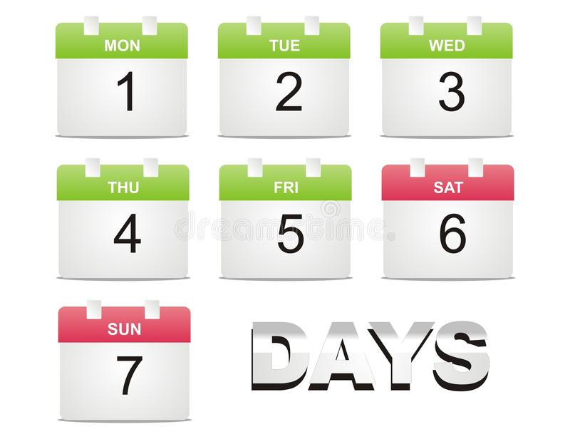 Calendario Di Vettore Fotografie Stock