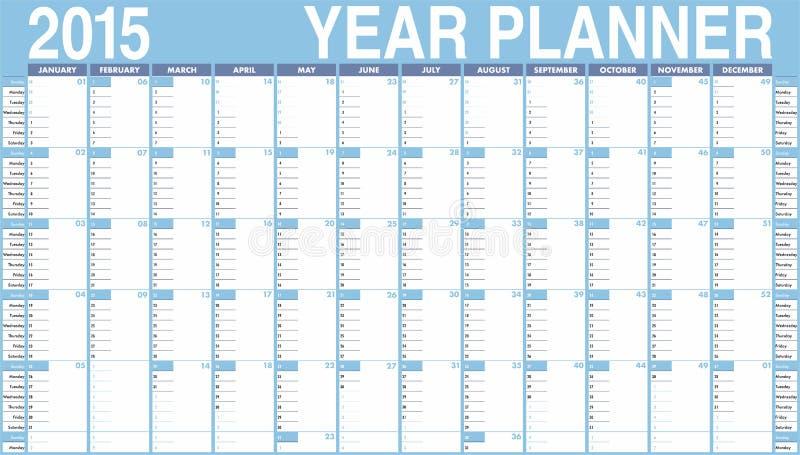 Calendario di vettore per 2015. illustrazione di stock