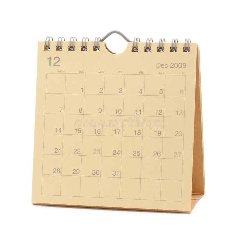 Calendario - dicembre 2009 immagine stock libera da diritti