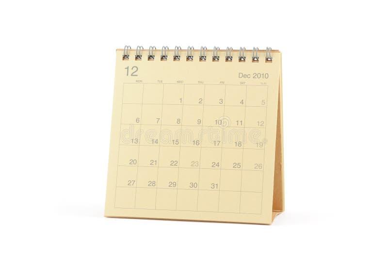 Calendario - dicembre 2010 immagini stock