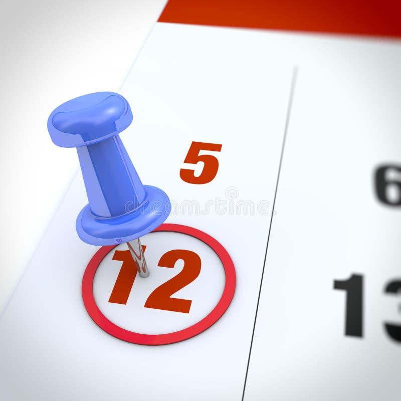 Calendario ed a pressione fotografia stock