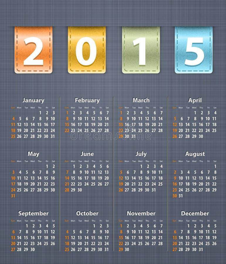 Download Calendario Elegante Para 2015 En La Textura De Lino Con El Insertio De Cuero Foto de archivo - Imagen de impresionante, calendario: 41902072