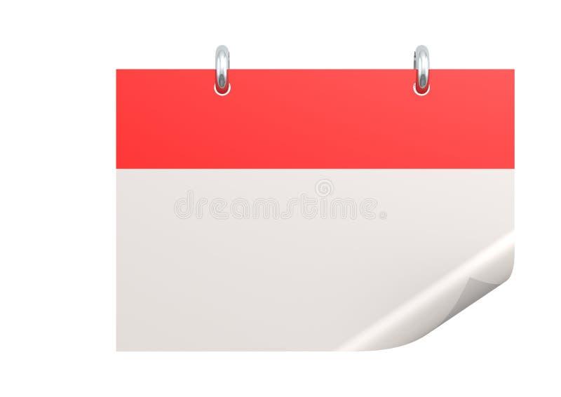 Calendario en blanco libre illustration