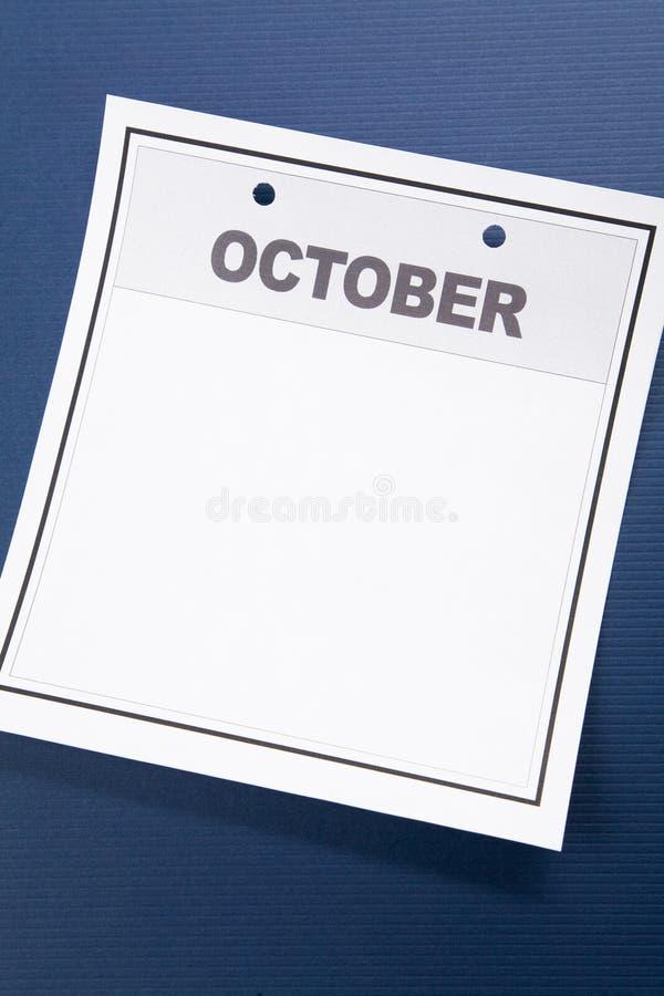 Calendario en blanco imagen de archivo