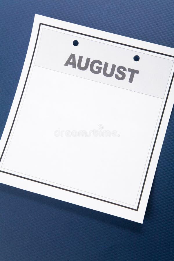 Calendario en blanco foto de archivo libre de regalías