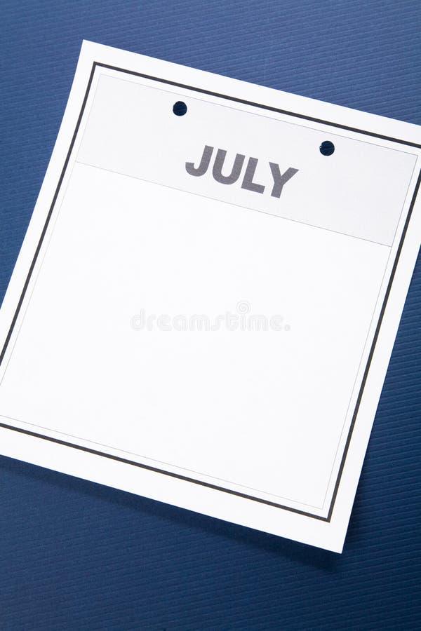 Calendario en blanco imagen de archivo libre de regalías