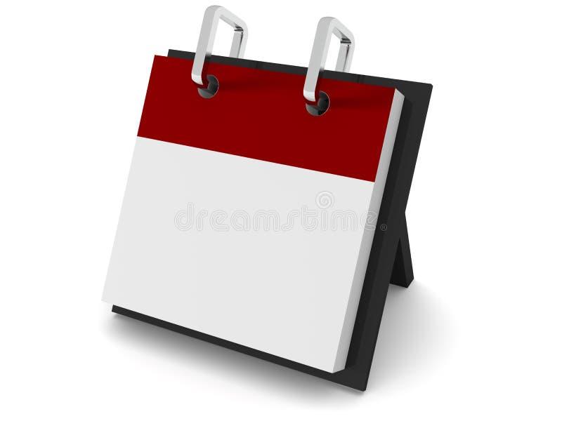 Calendario en blanco en la base libre illustration