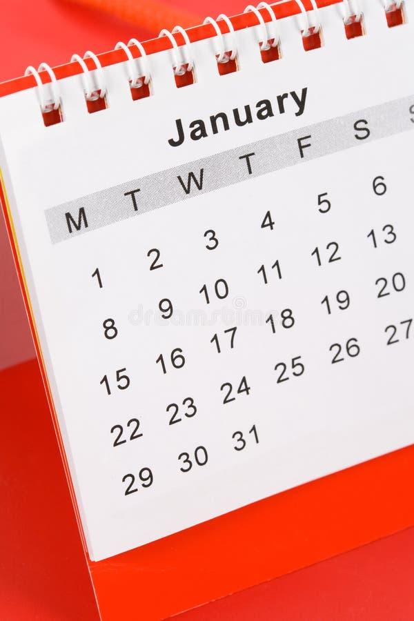 Calendario enero imagenes de archivo