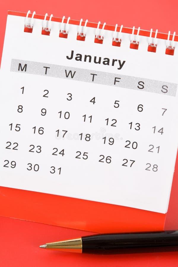 Calendario enero imágenes de archivo libres de regalías