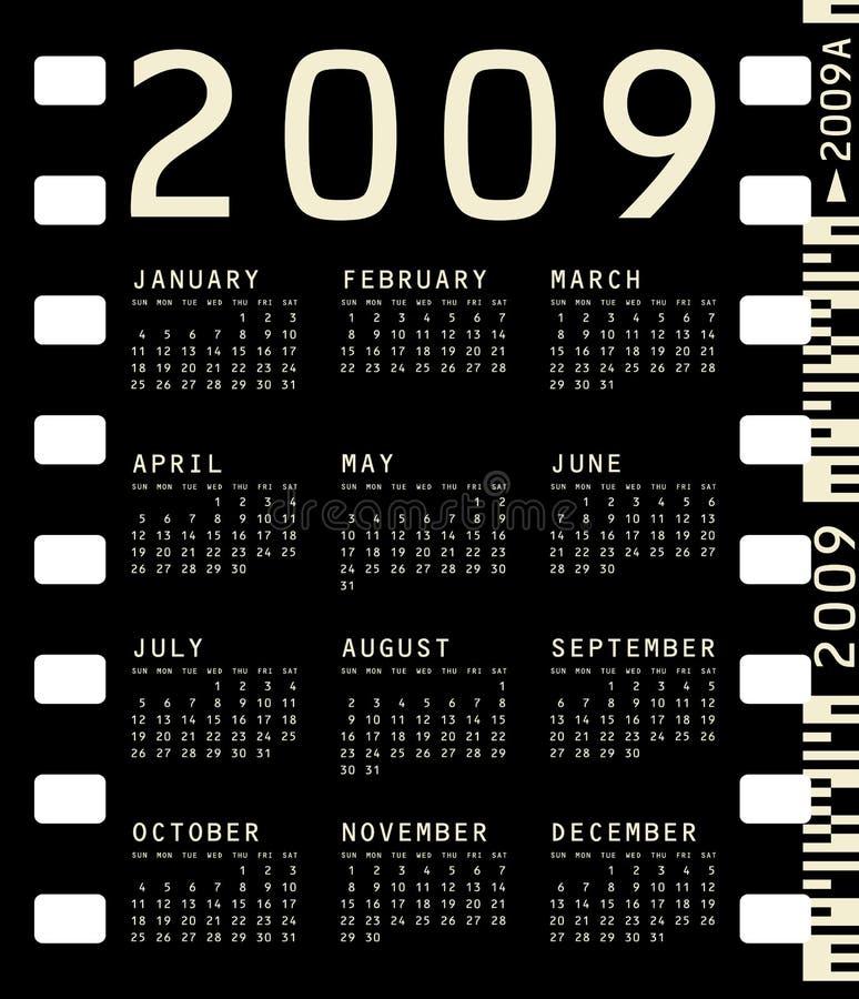 Calendario fotográfico para 2009 stock de ilustración
