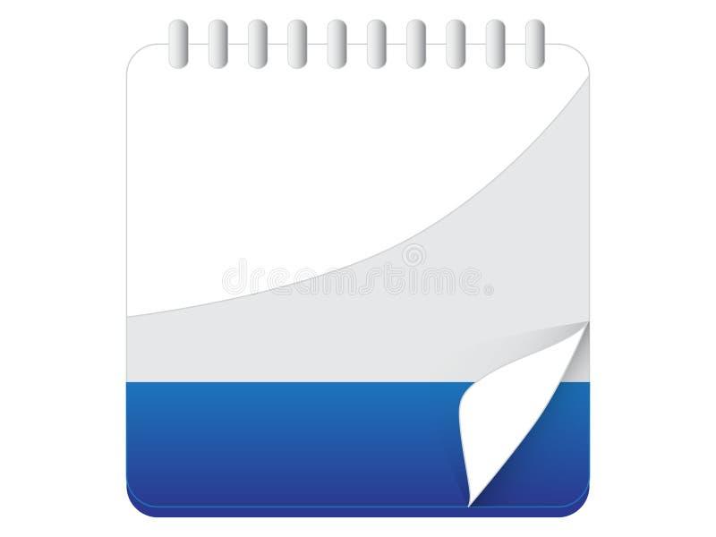 Calendario, icona in bianco dell'appunto fotografie stock