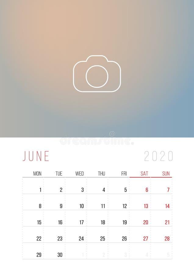 Calendario Mensile Giugno 2020.Mese Corporativo Di Aprile Di Progettazione Del Modello Del
