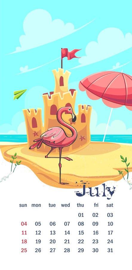 Calendario 2021 Julio La Divertida Imagen Del Castillo De Dibujos