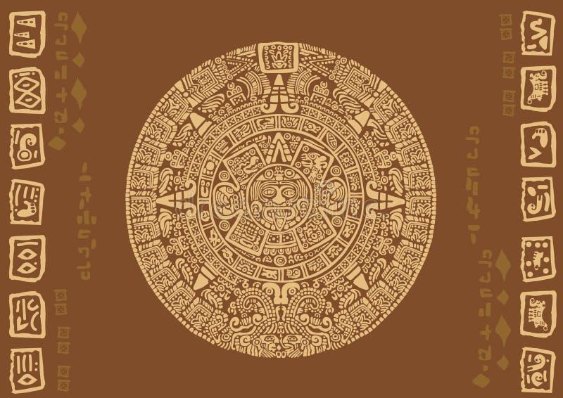 Calendario maya illustrazione di stock