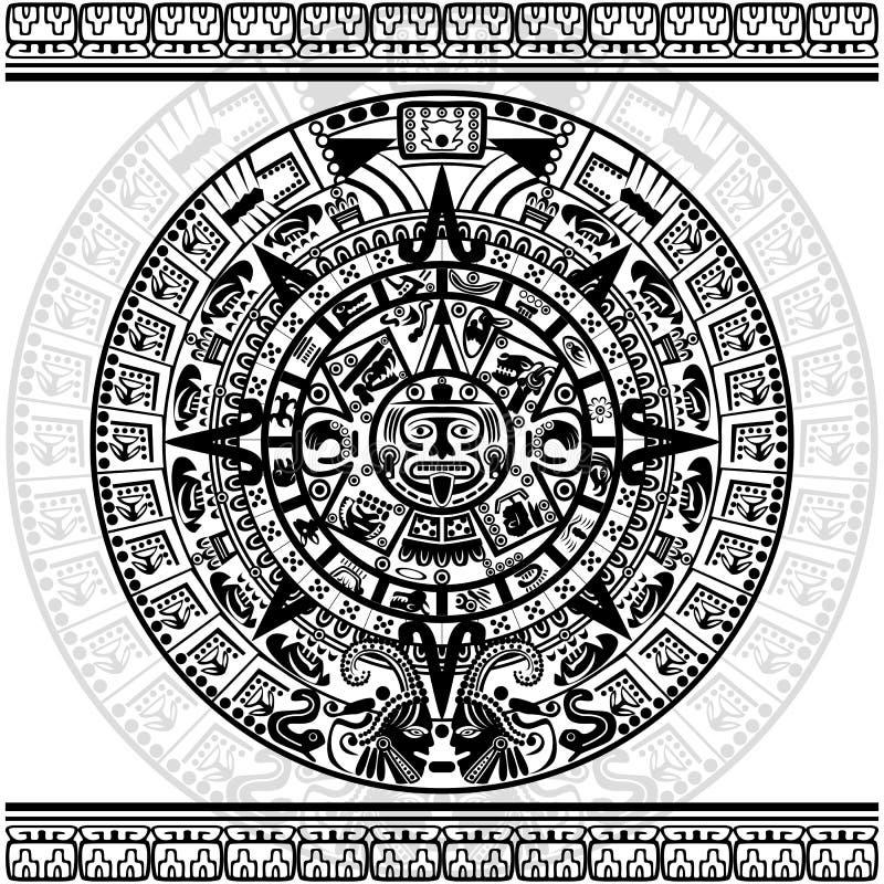 Calendario maya ilustración del vector