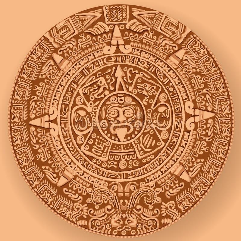 Calendario Mayan illustrazione vettoriale