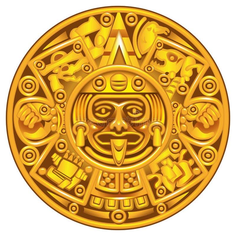 Calendario Mayan illustrazione di stock