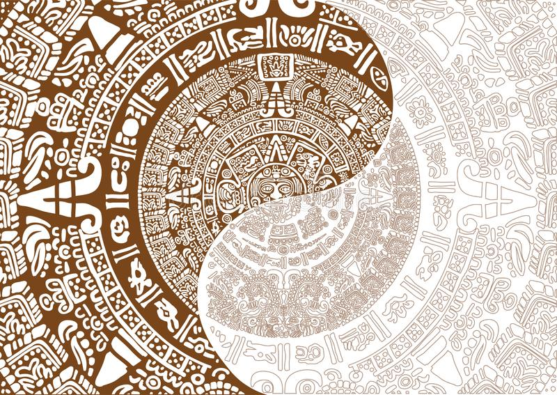 Calendario Mayan antico immagini stock