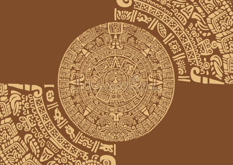 Calendario Dei Maya.Calendario Maya Illustrazione Vettoriale Illustrazione Di