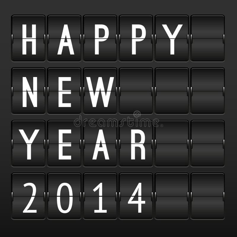 Calendario mecánico, Feliz Año Nuevo 2014 libre illustration