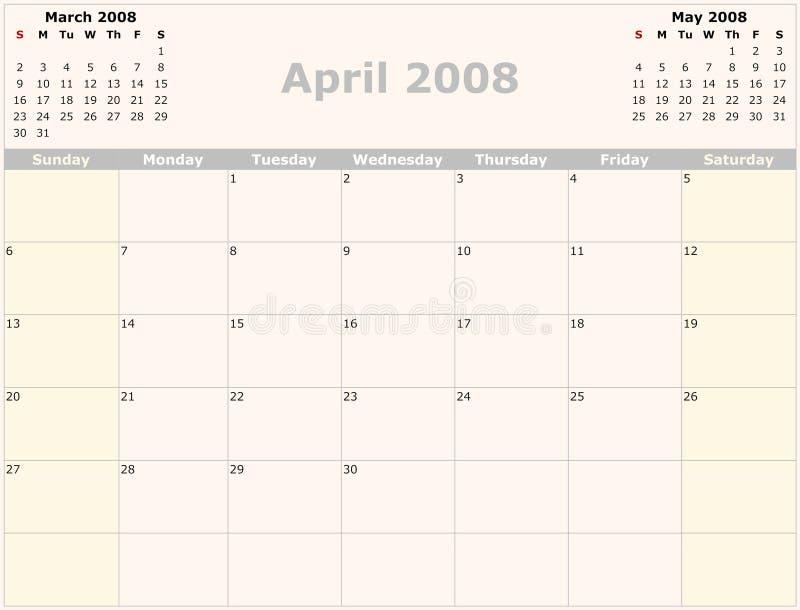 Calendario mensile illustrazione vettoriale