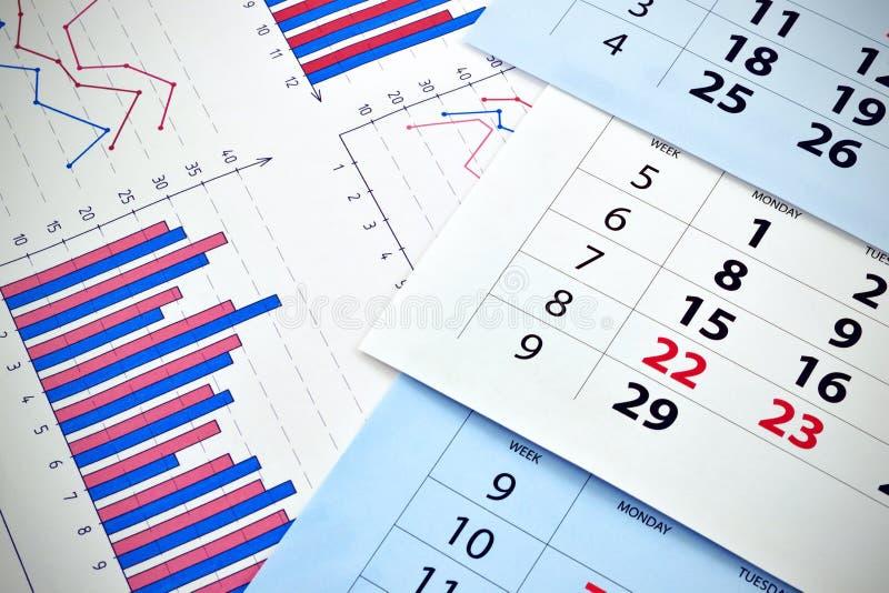 Calendario mensile fotografie stock libere da diritti