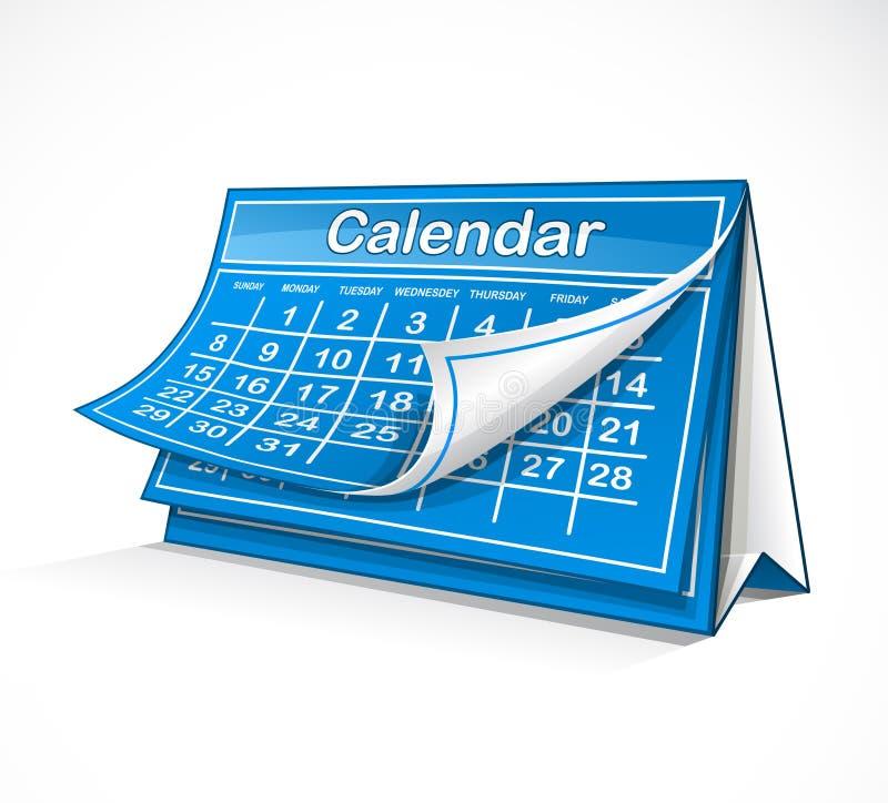 Calendario mensual stock de ilustración