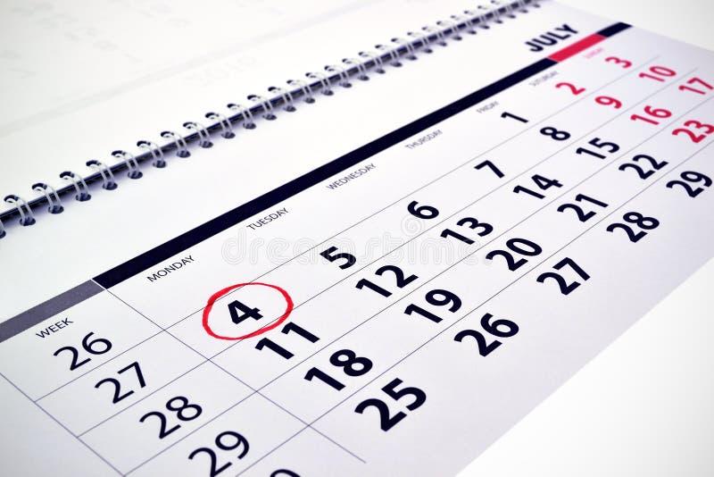 Calendario mensual imagen de archivo
