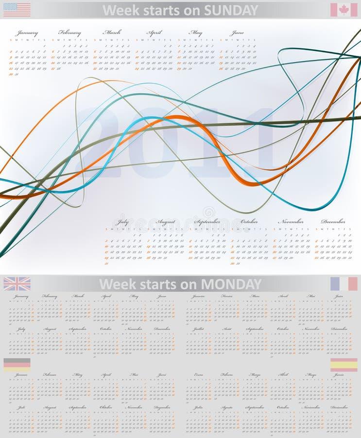 Calendario multilingüe 2011 libre illustration