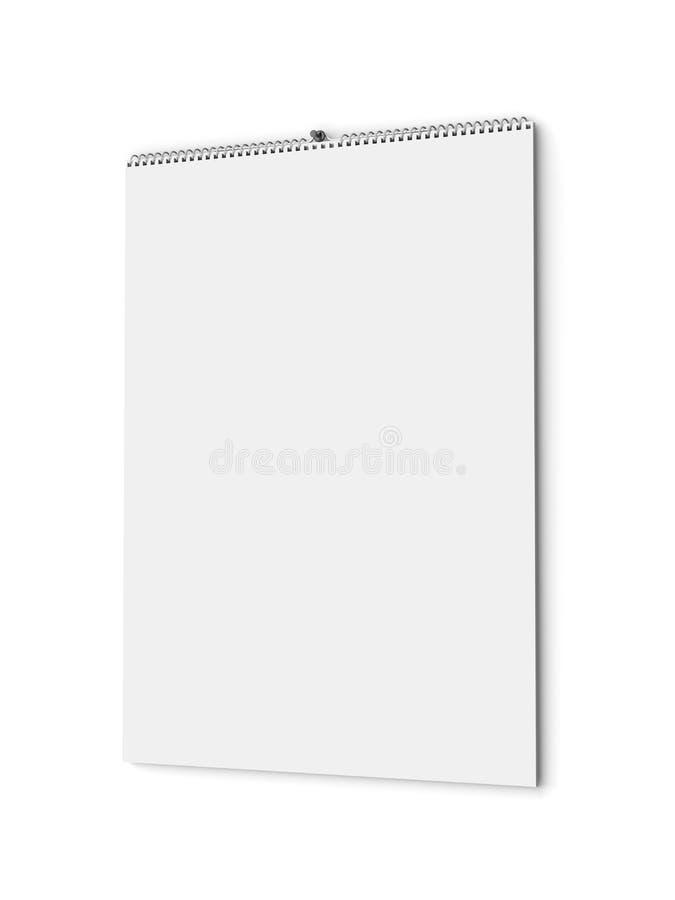 Calendario murale in bianco illustrazione di stock
