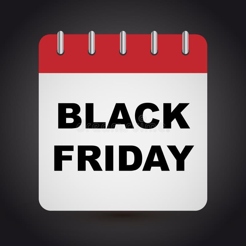 Calendario negro de viernes libre illustration