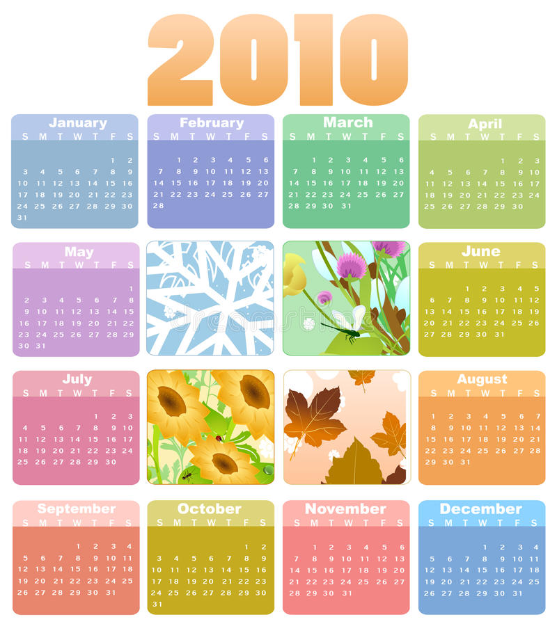 Calendario para 2010 libre illustration