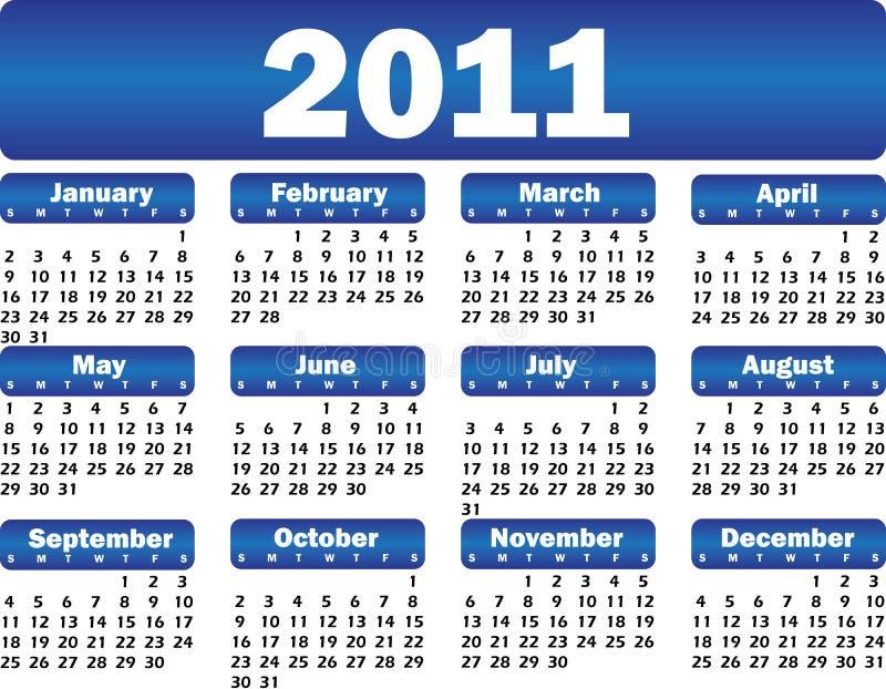 Calendario para 2011 foto de archivo