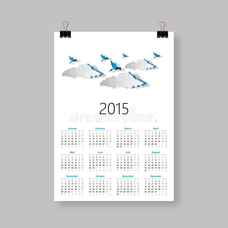 Calendario para 2015 stock de ilustración