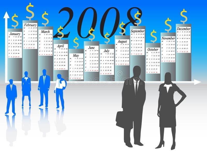 Calendario per 2008 anni illustrazione di stock