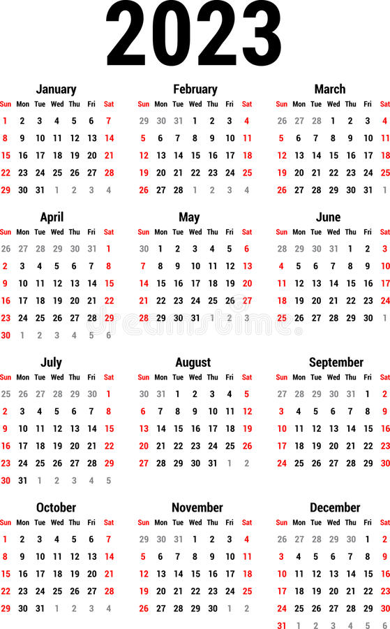 Calendario per 2023 royalty illustrazione gratis