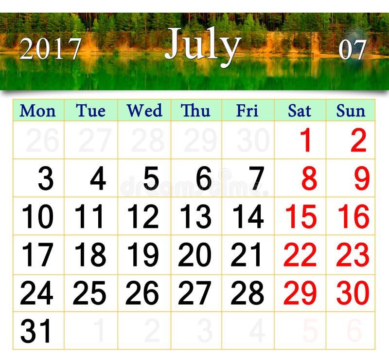 Calendario Luglio 2007.Il Calendario Per Luglio August September 2017 Con Tre Ha