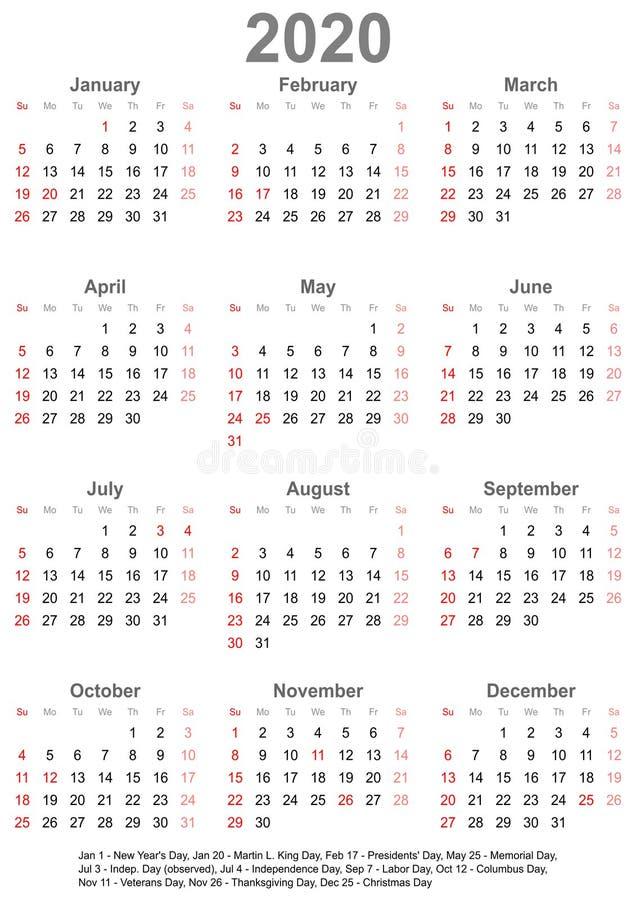 Feste Calendario 2020.Calendario Semplice 2017 Con Le Feste Nazionali Per U S A