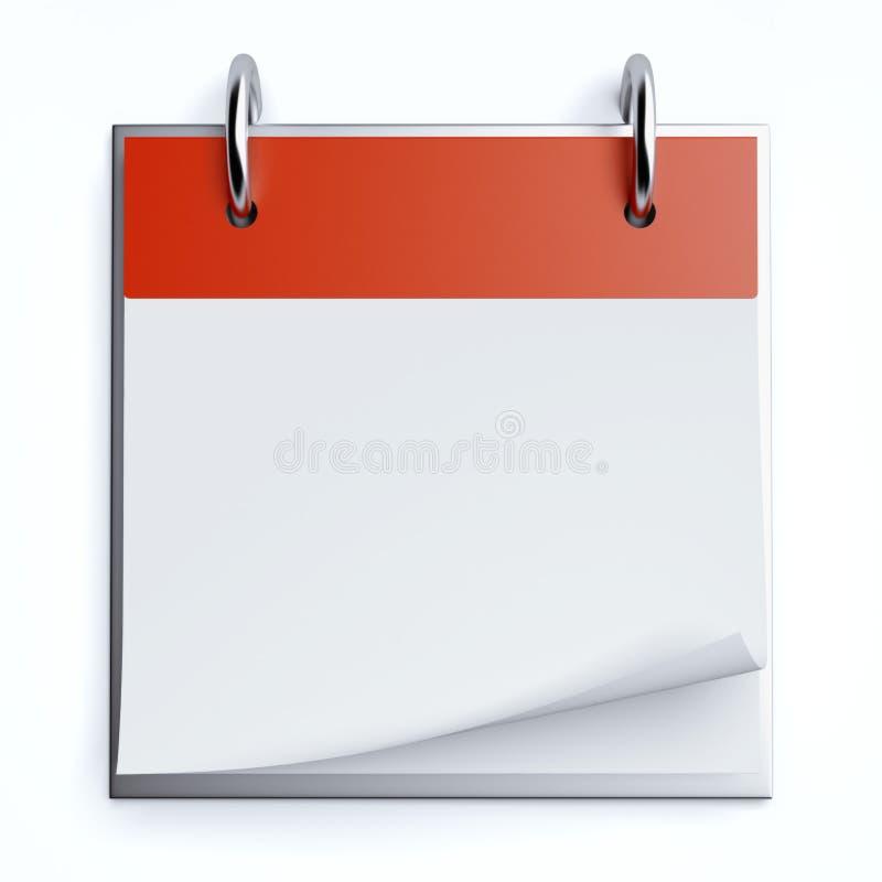 Calendario rojo ilustración del vector