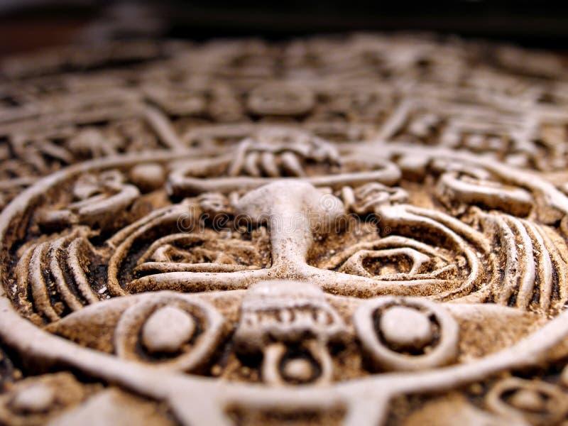 Calendario solar azteca imagen de archivo