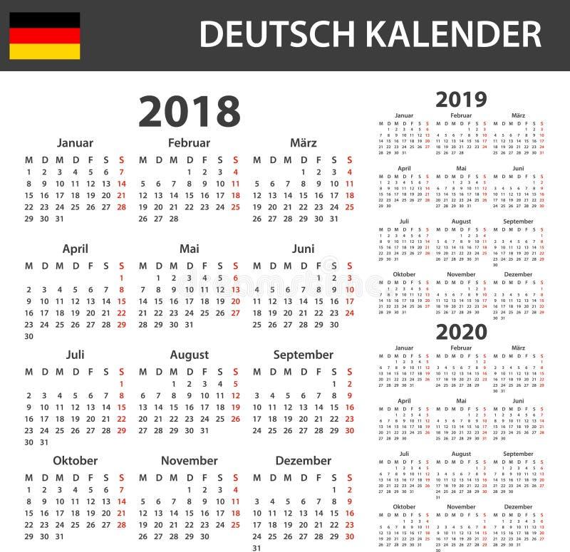 Calendario Pastore Tedesco 2020.Calendario Tedesco Per 2018 Tabella Degli Orari Ordine Del
