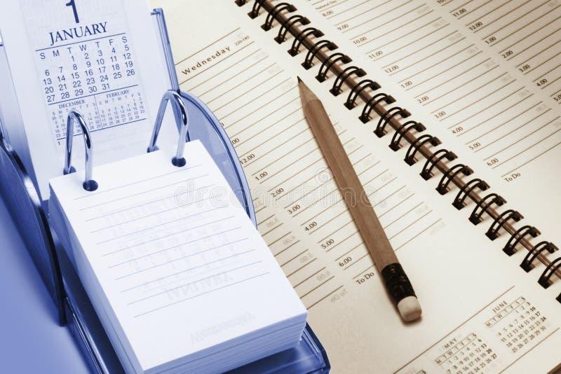 Calendario Y Planificador Fotografía de archivo libre de regalías