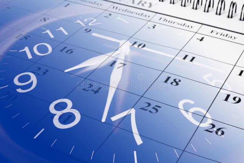 Calendario y reloj fotografía de archivo libre de regalías