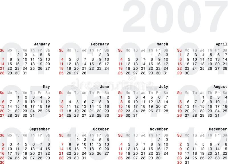 Calendario2007_2h illustration de vecteur